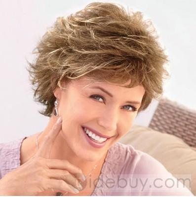 Custom Sweet Women S Hairstyle Short Wavy About 6inches