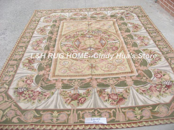 Бесплатная доставка 8'X10 'кружево шерстяные ковры, ручной сшитые ковры для гостиной 100% Новозеландской шерсти ковры цветочный дизайн