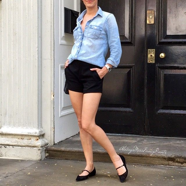 Keeping it simple  #JCrew shirt #Gucci shorts #JimmyChoo flats