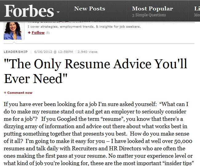 quot the only resume advice you ll need quot resume and the