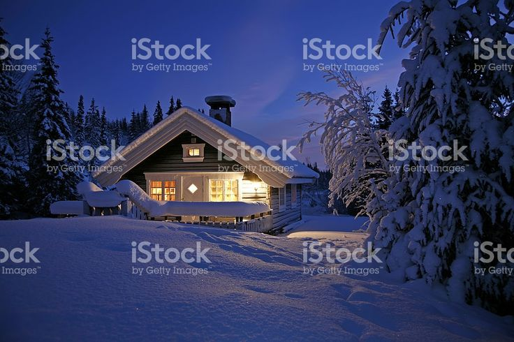Snowbound Cottage royalty-free stock photo