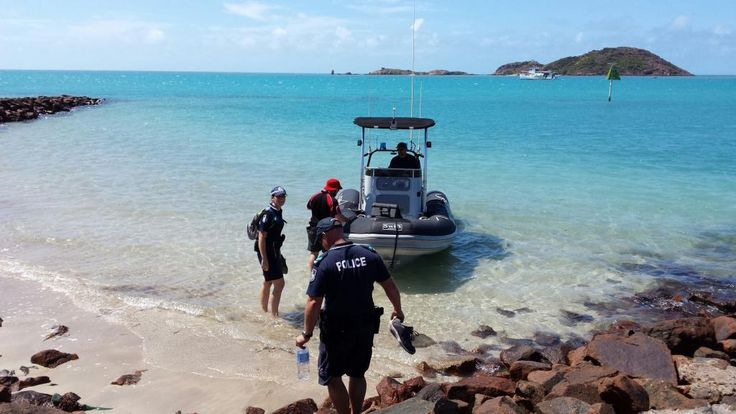 Senior Constable Cheryl Young and Channel 7 Cameraman Boarding the MV Conroy tender aftering being on Mabuiag Island in May this year.