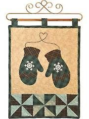Christmas & Winter Quilt Patterns - Vintage Blessings January Wall Hanging Pattern or Laser-Cut Kit