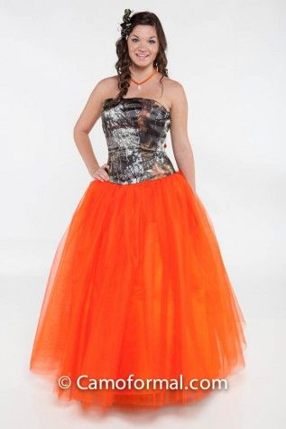 3658 Ball gown with Net, shown in Orange net