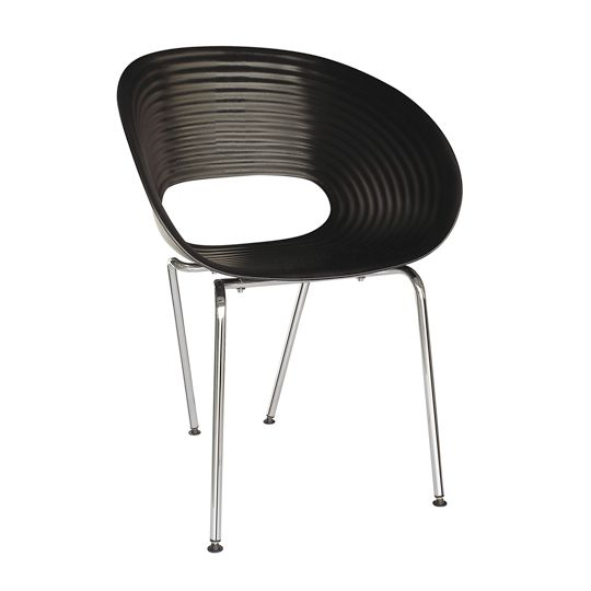 tom vac style chair available in white black and red