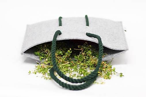BUBAKdesign / Šedo-zelený vegánsky BUBAK