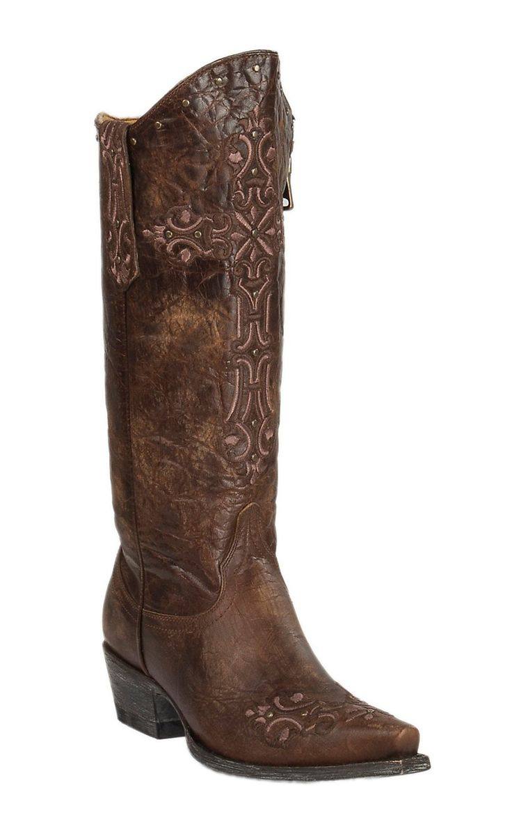 Cavender's by Old Gringo Women's Cognac with Turquoise Angie Inlay Western Snip Toe Boots   Cavender's Find this Pin and more on Cavender's Exclusive Cowboy Boots by cavenders. See more.