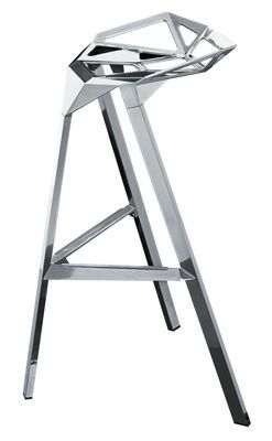 Tabouret haut Stool One H 67 cm - Version Alu poli - Magis - Designer : Konstantin Grcic