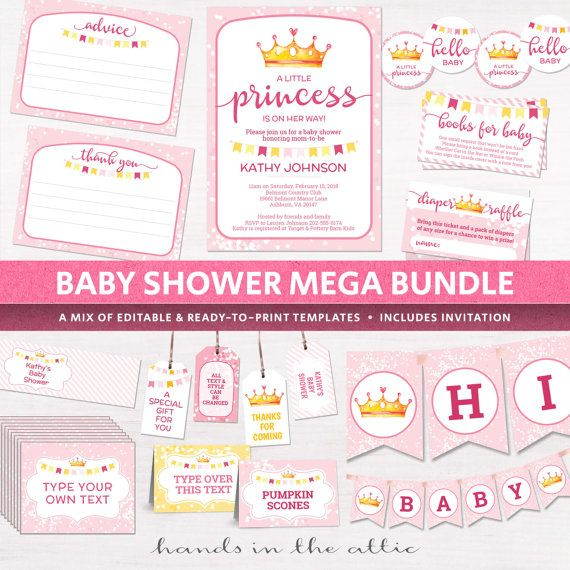 182 best Baby Shower Decor images on Pinterest My etsy shop - baby shower invitations for word templates