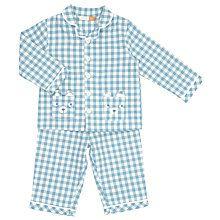 Buy John Lewis Baby Checked Bear Pyjamas, Blue Online at johnlewis.com