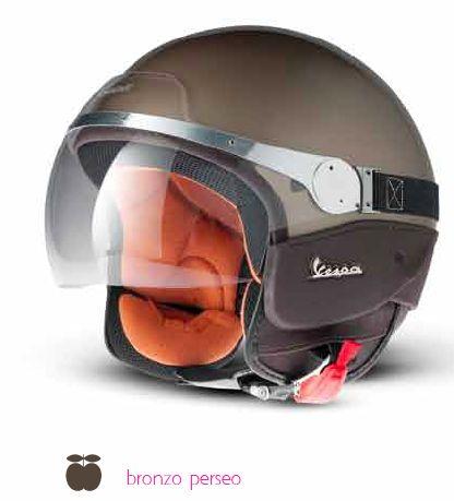 Vespa helmet #Vespa #scooter #merchandising #helmet #bronze
