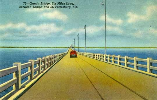1000 images about penny postcards of st petersburg fl for Gandy bridge fishing