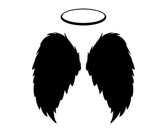 Angel Wings Halo Black Feathers Flying Instant Download Etsy Angel Wings Halo Black Angel Wings Black Angels