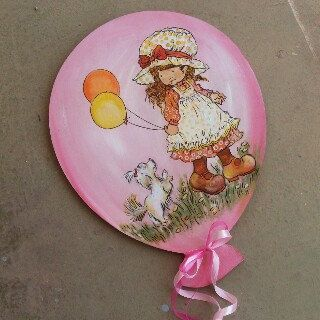 Personalized balloon for a little girl...