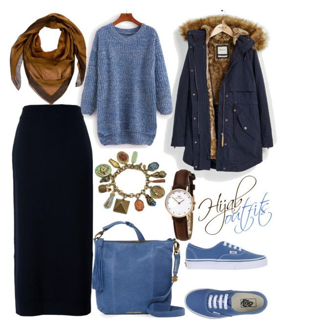 """#Hijab_outfits #Casual"" by mennah-ibrahim on Polyvore featuring Parka London, Enföld, Hermès, Lucky Brand, Vans and Sweet Romance"