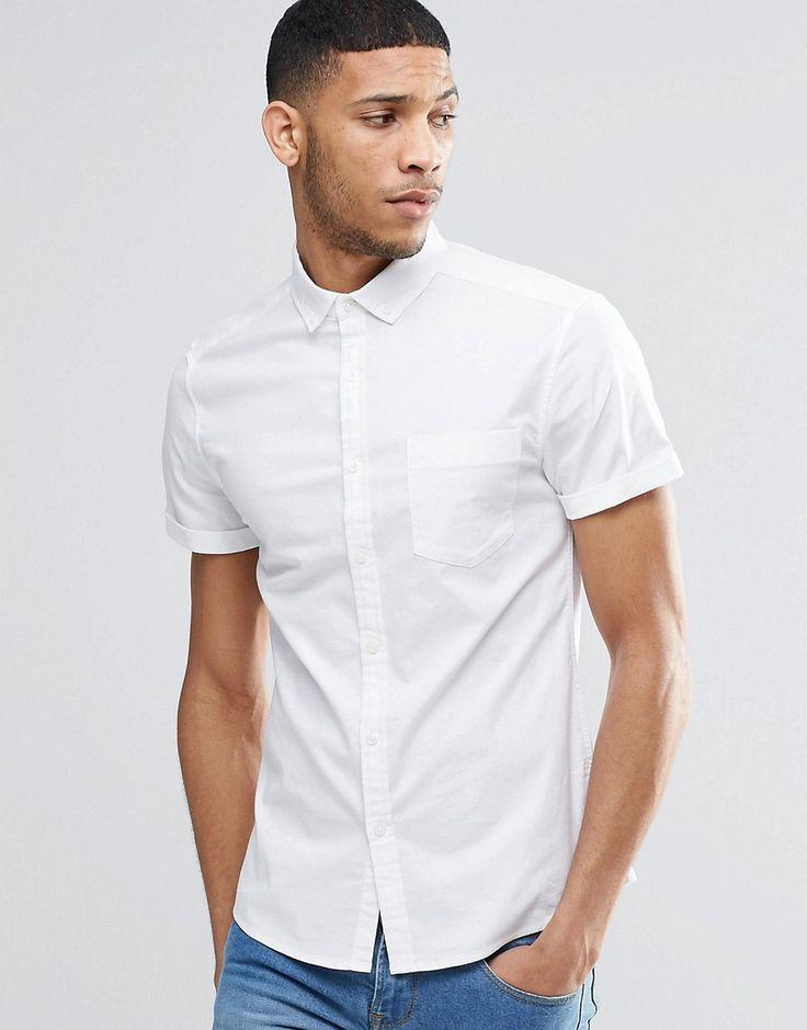 Bild 1 von ASOS – Eng geschnittenes Oxford-Hemd mit kurzem Arm
