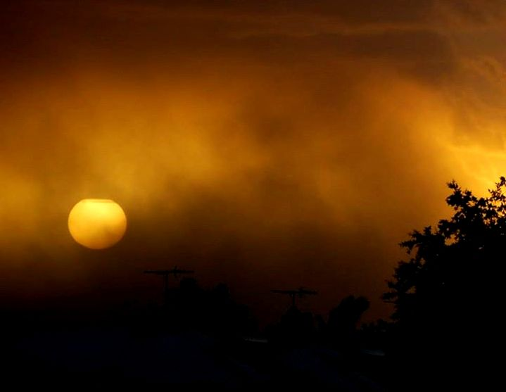 Dust Storm at Sunset - South Hedland