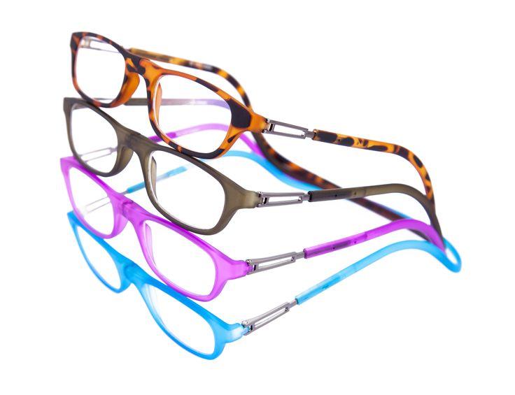Óculos de leitura com fechamento frontal magnético e haste flexível ajustável. #eyewear #bereader #óculosdeleitura #Garbi