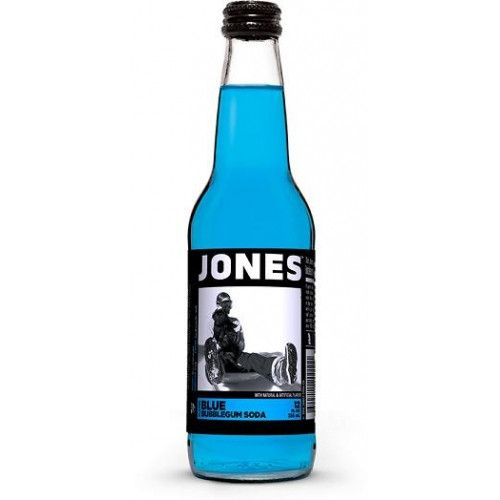 Jones Soda is a well known and well-liked brand. Made with real cane sugar, these sodas are all delicous. Blue Bubblegum Soda is a super sweet true bubblegum flavor. 12 oz glass bottles