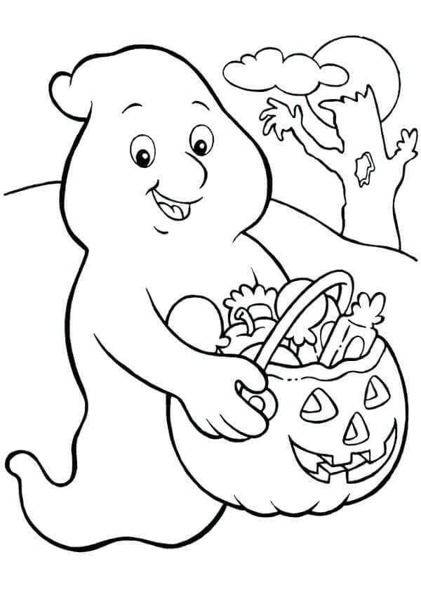 Printable Ghost Coloring Pages For Kids Halloween Coloring Pages
