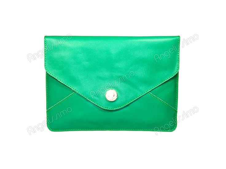 Клатч - конверт зеленый