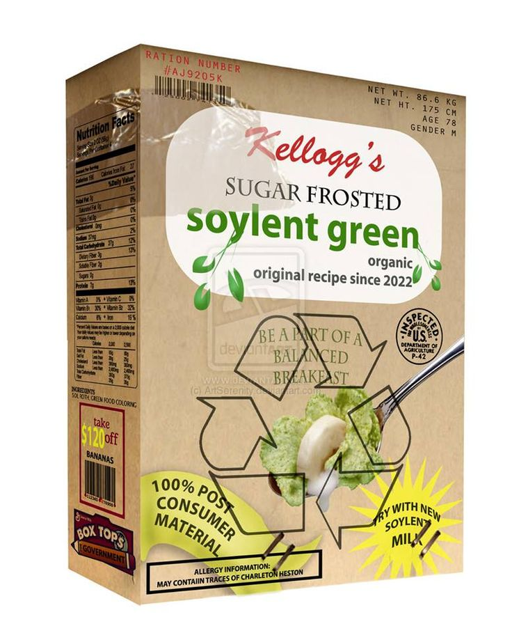 essay on soylent green A look at the world of soylent green, is pure promotional garbage,  a  charlton heston science fiction movie essay lists the actor's genre.