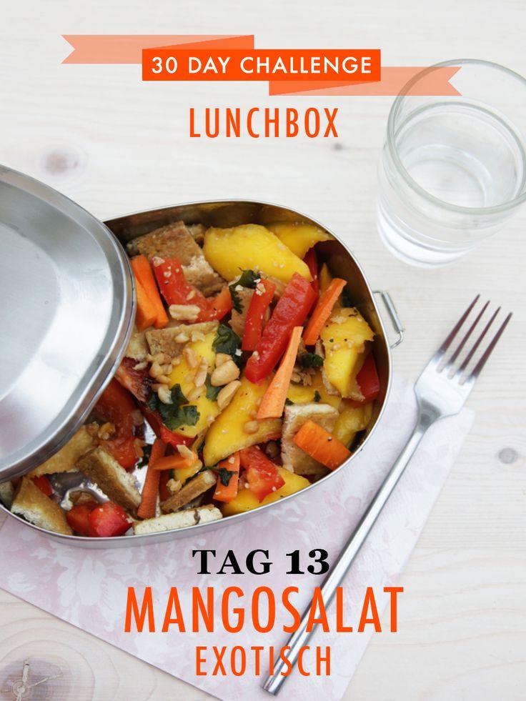 30 day challenge – heute in der Lunchbox: Exotischer Mangosalat