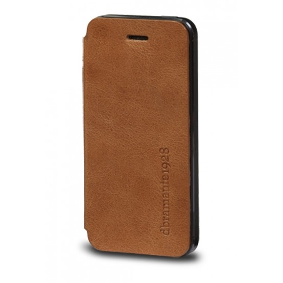 Golden tan, leather folio cover for iPhone 5 by dbramante1928. Price: $40. More information: www.dbramante1928.com.