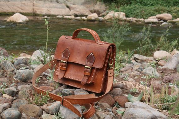 Mini laptop Leather  bag by Leatherfinerwork on Etsy, $169.00: Leather Satchel, Messenger Bag Leather, Leather Messenger Bags, Leather Bags
