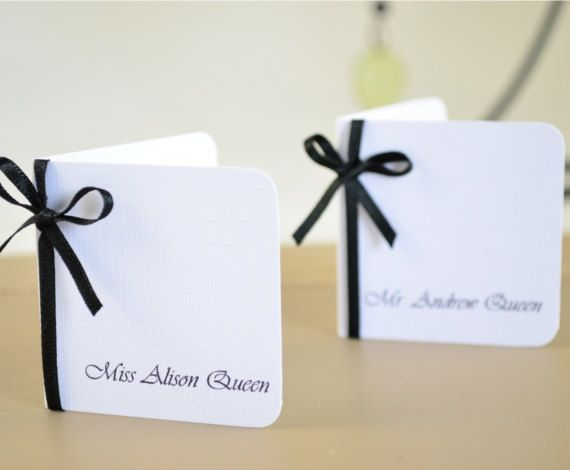 Wedding Place Name Card Wedding Escort Card by PaperWhispers, $5.00