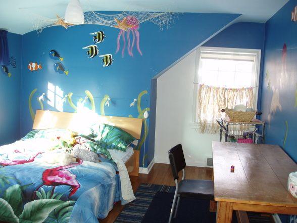 ocean bedroom. Ocean Room  I painted this space for my 5 year old daughter have Best 25 bedroom kids ideas on Pinterest
