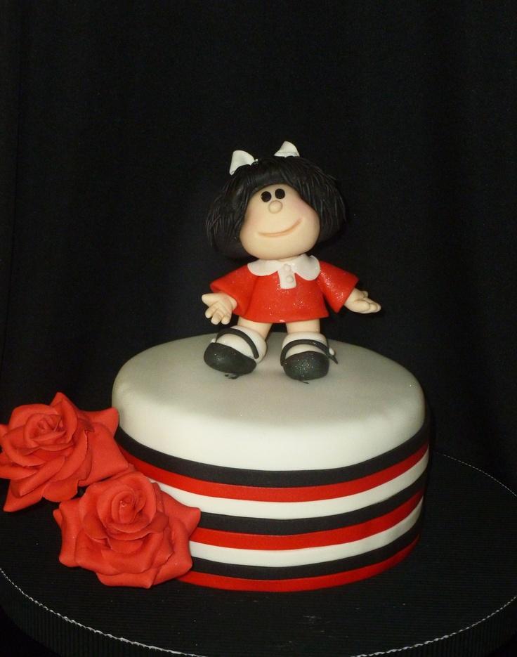 Mafalda cake pastel tarta torta fondant stripes