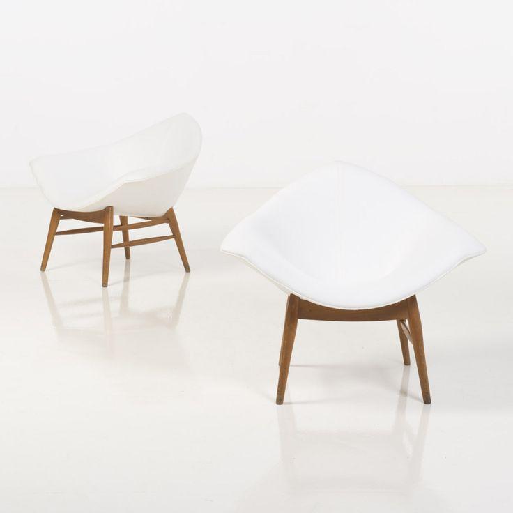 Ilmari Tapiovaara Attributed; Teak lounge Chairs for Asko, 1950s.