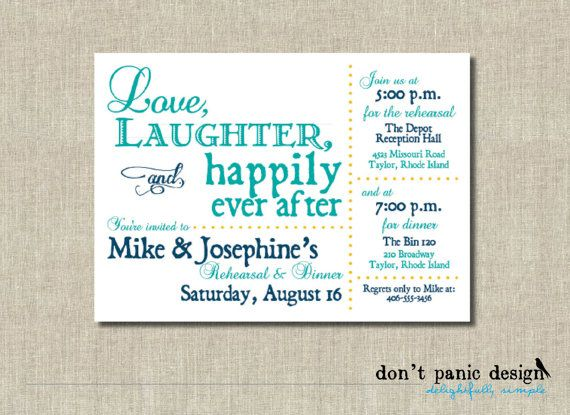 22 best Wedding Rehearsal images on Pinterest Invitations - printable dinner invitations