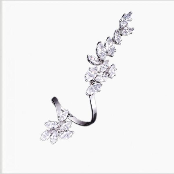 Tia Swirling Diamonds Full Finger Ring | Body Kandy Couture Art Deco Full Finger Diamond Ring
