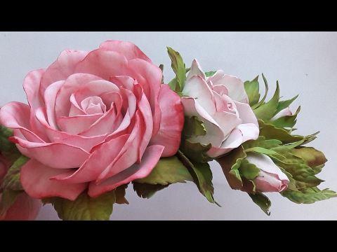 МК! Как сделать заколку из фоамирана! Простой способ! Hairpin rose from foamirana! An easy way! - YouTube