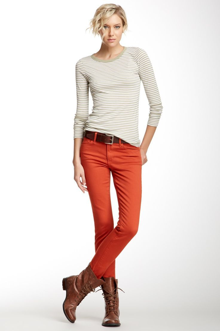 Oh orange skinny jeans, i love you...even if i live in a land of garnet and gold...at least in the fall.