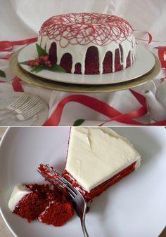 Pancarlı Kırmızı Kadife Kek