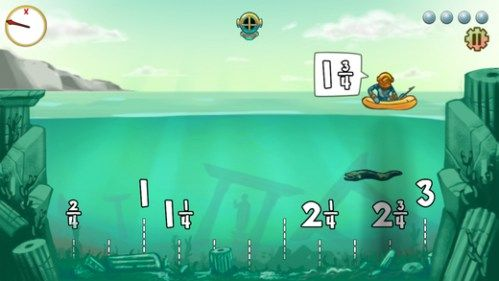 Lobster Diver is one of 8 iPad apps that are sure to liven up your math summer school program. Get students the practice they need in a fun and interactive way. Check these 8 apps out! (great for getting that extra math boost at home during the summer too!)