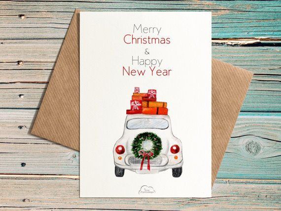 Merry Christmas and Happy New Year Printed от WhiteWildRose