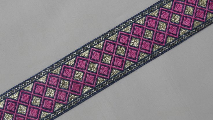 """3 Yd Jacquard Trim 1.20"""" wide Woven Border Sew Embroidered Ribbon Lace T793 #SewOn"""