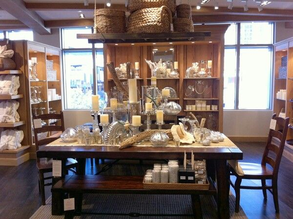 Pottery Barn Store Display Shelves