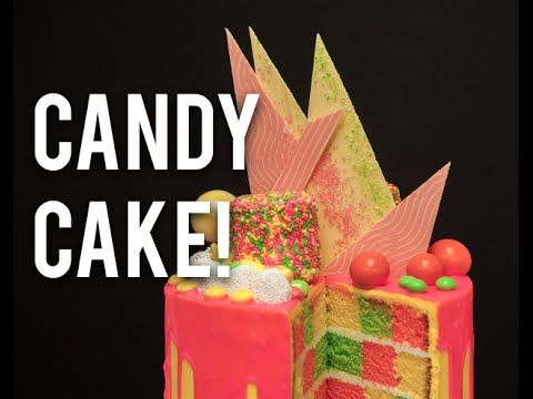 Candy-Inspired Vibrant Vanilla Checkboard Cake with Buttercream and Wh – HOW TO CAKE IT
