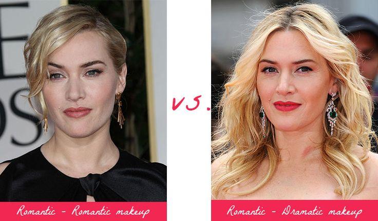 Kate Winslet - Romantic makeup vs. Dramatic makeup. Typ urody Romantic – seksbomba