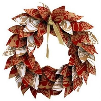 Paper wreathHoliday, Wreaths Tutorials, Christmas Wreaths, Crafts Ideas, Paper Wreaths, Paper Christmas, Paper Leaves, Paper Crafts, Wreath Tutorial