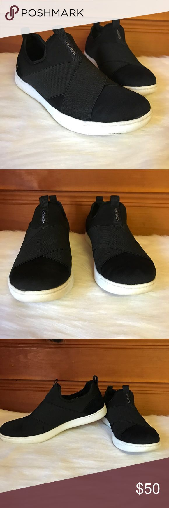 Skechers Memory Foam Sneakers Sketchers Sneakers size 7.5 in Woman's. Hey are Air Cooler Memory Foam. Like New and worn One Time. Have a Sporty Wrap Design on them. Bundle 2 or more items and save 15%! 🎁 Skechers Shoes Sneakers