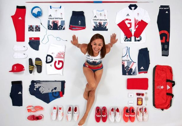 Defending Olympic heptathlon champion Jessica Ennis-Hill's bags include eight different pairs of shoes.  Adidas Team GB kit by Stella McCartney (JJOO de Río 2016).