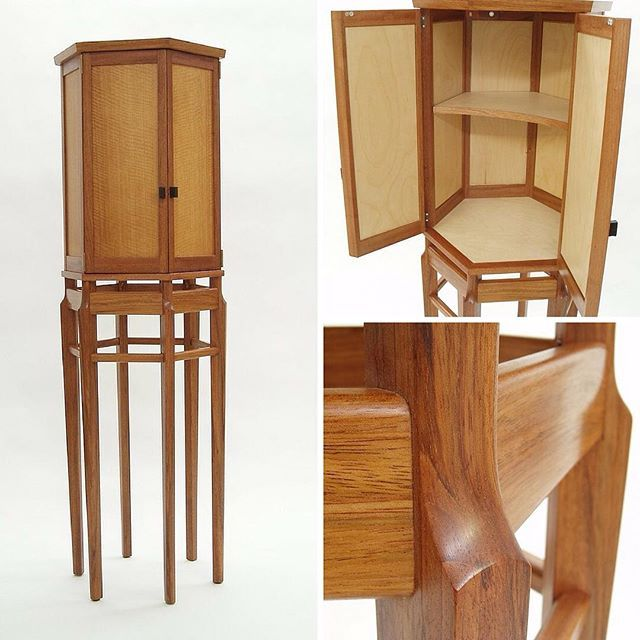 Whiskey Cabinet. Crafted by Oden artisan Rob Brown. Private collection.