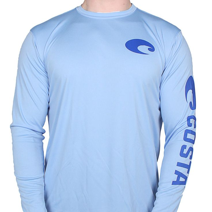 Performance Core Long Sleeve T-Shirt in Carolina Blue by Costa