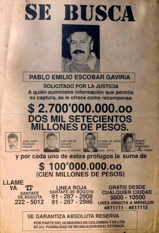 Se busca Pablo EScobar